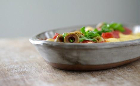Quenelles de semoule et à la sauce tomate